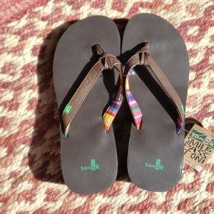 Heeled Sanuk Flip Flops
